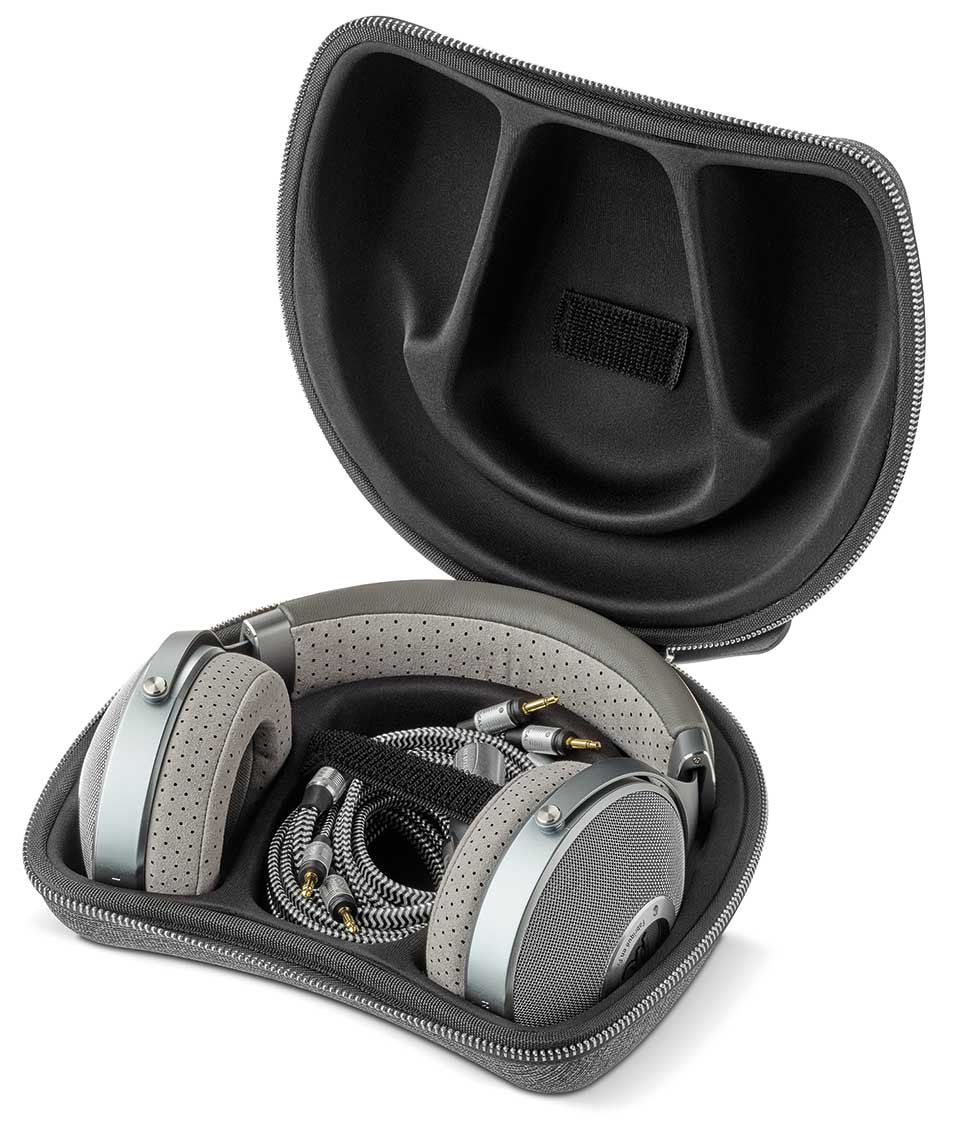 Focal Clear Headphones carrying case and accessories