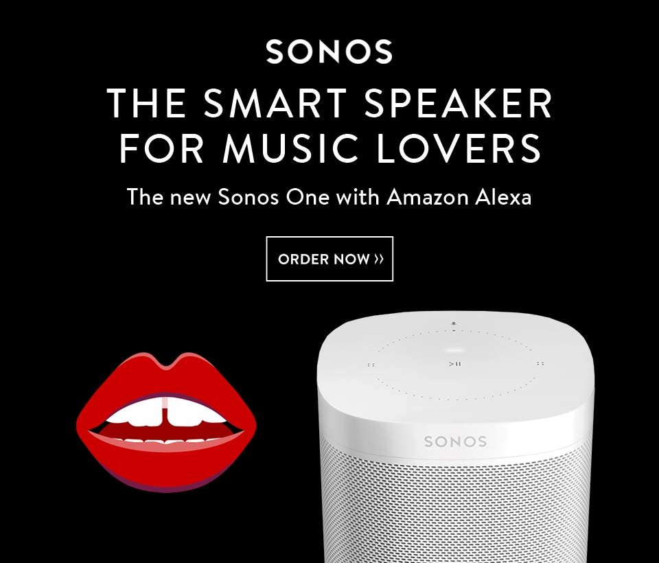 Say Hello to the Sonos One: the One Speaker that Takes Requests