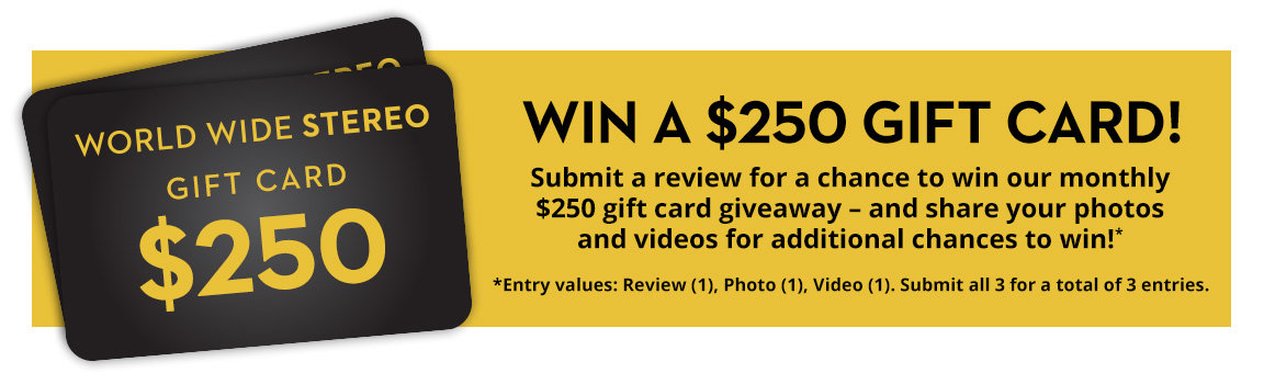Win a $250 gift card just by submitting a product review