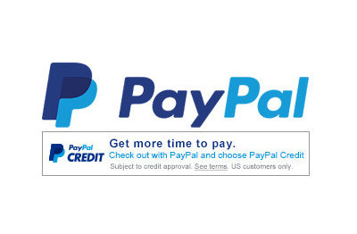 Paypal and paypal credit payment options