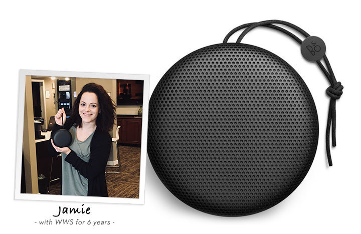 Jamie recommends the Bang & Olufsen Beoplay A1 portable Bluetooth speaker