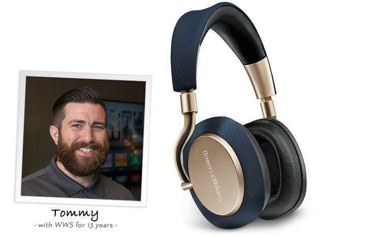 Tommy recommends the PX wireless headphones from bowers and wilkins