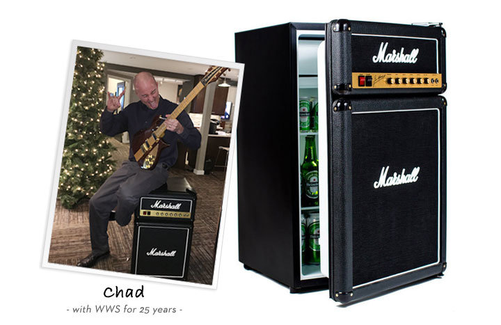 Chad recommends the marshall bar fridge