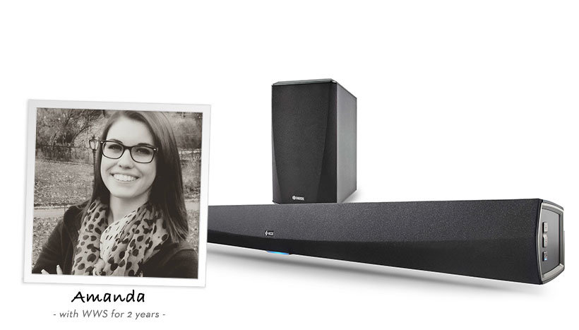 Amanda recommends the Heos Bar and Subwoofer