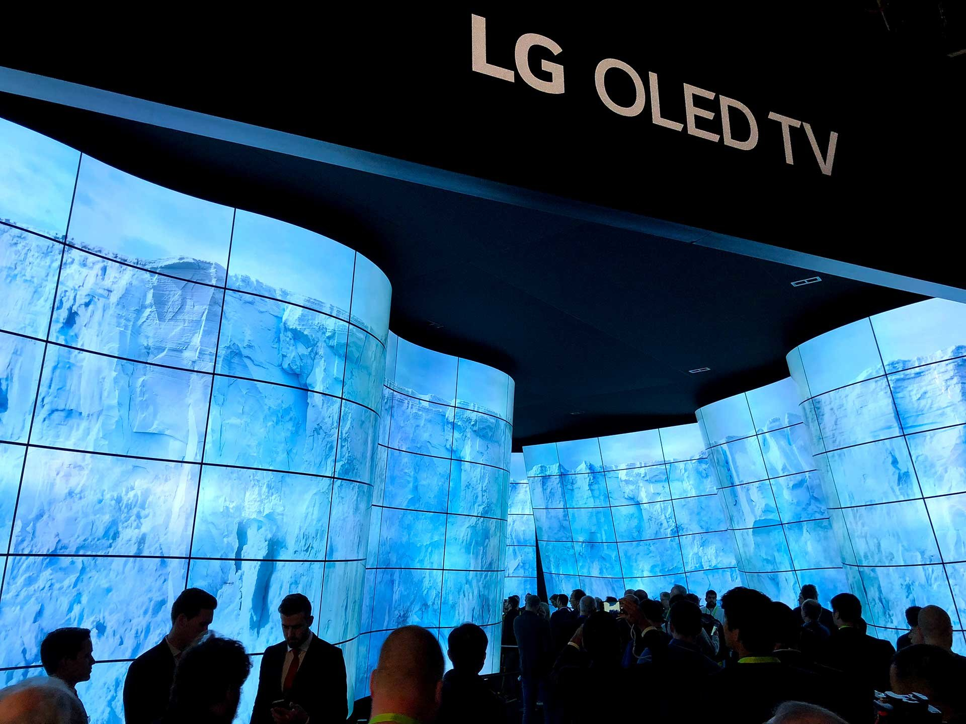 LG display experience at CES