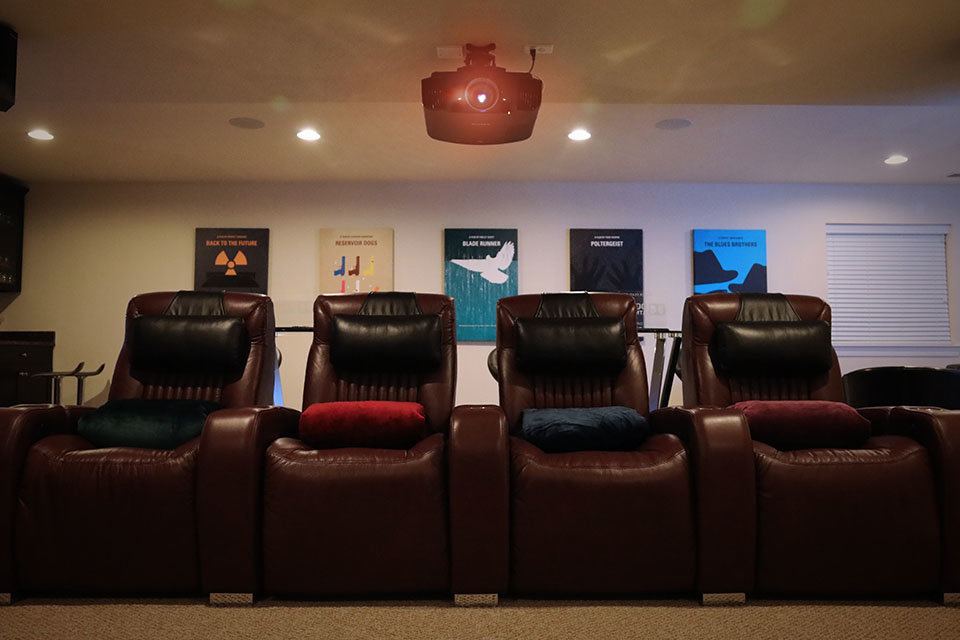 Home Theater Seating and Pillows