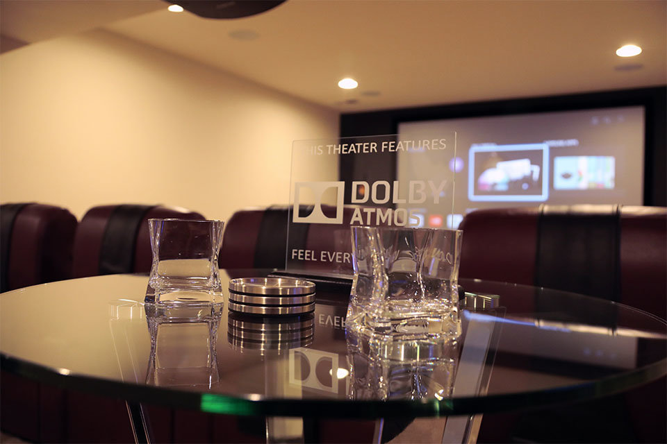 Dolby Atmos Plaque and Glasses