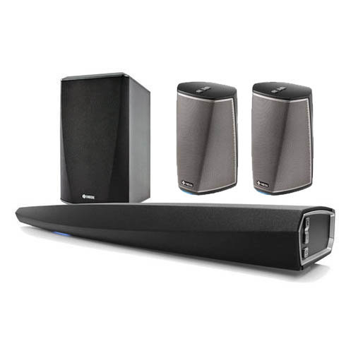 Denon HEOS 5.1 Channel Speaker System with Wireless Soundbar, Subwoofer, and HEOS1 Speakers - Pair (Black)