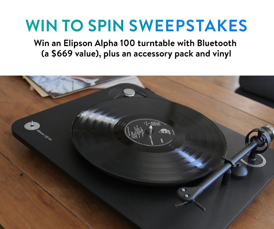 Win an Elipson turntable!