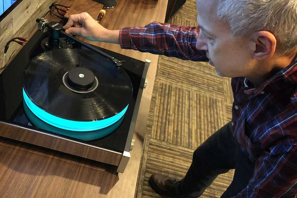Ken and a turntable
