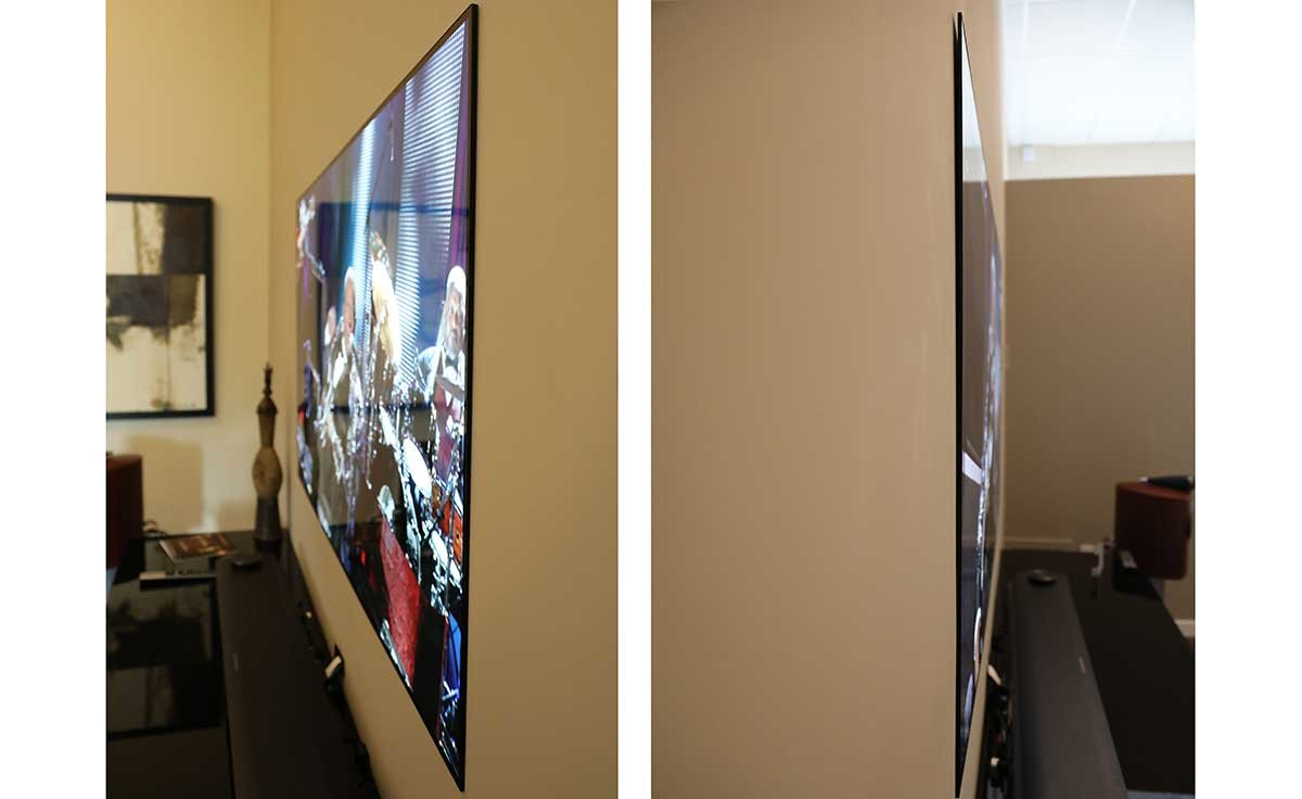 "Suffice it to say, when you can quite literally peel a 77"" TV off the wall with one hand – we're talking really really really thin. (There's a 65"" version, ..."