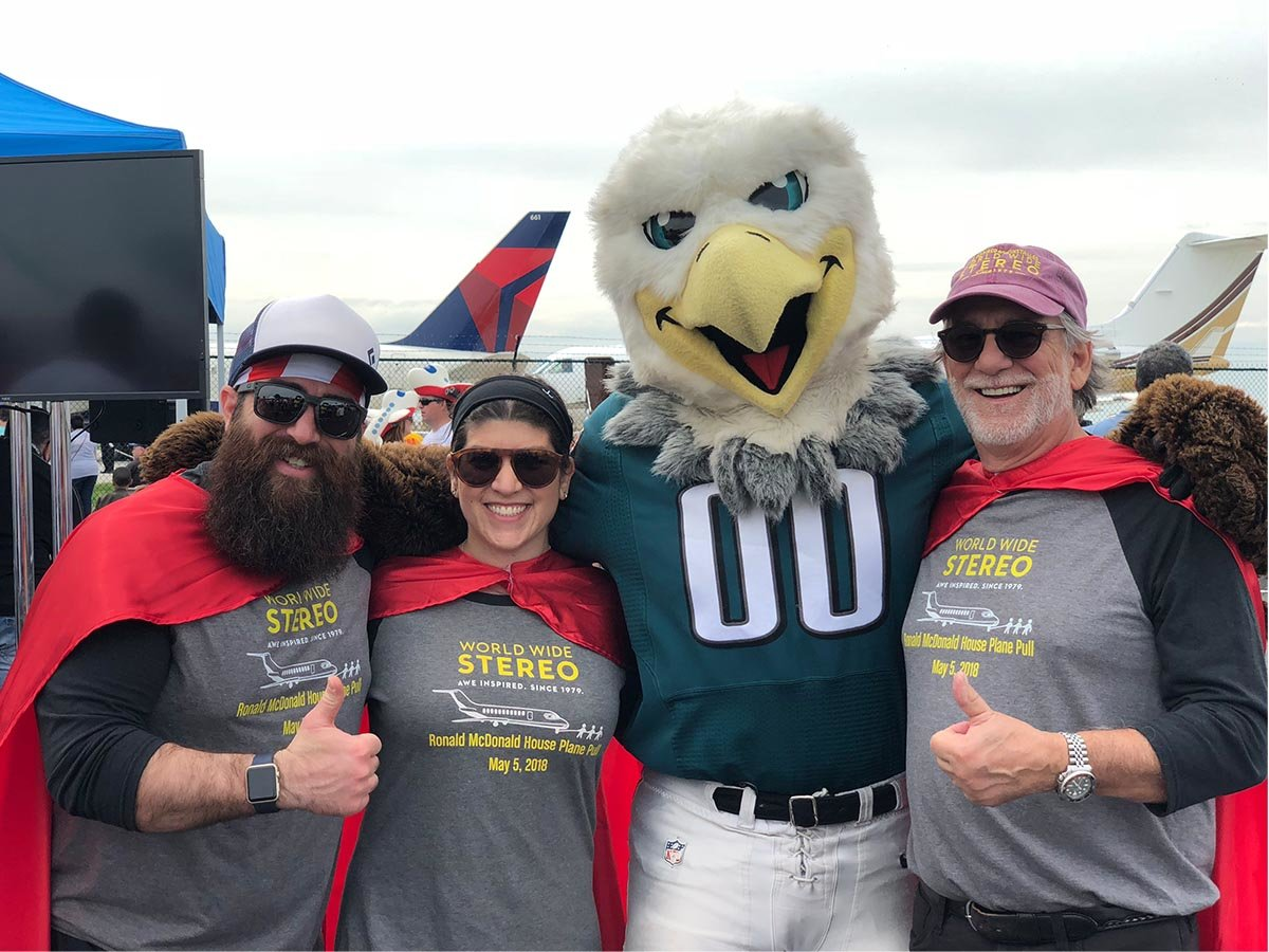 Tommy, Fern and Bob with Swoop