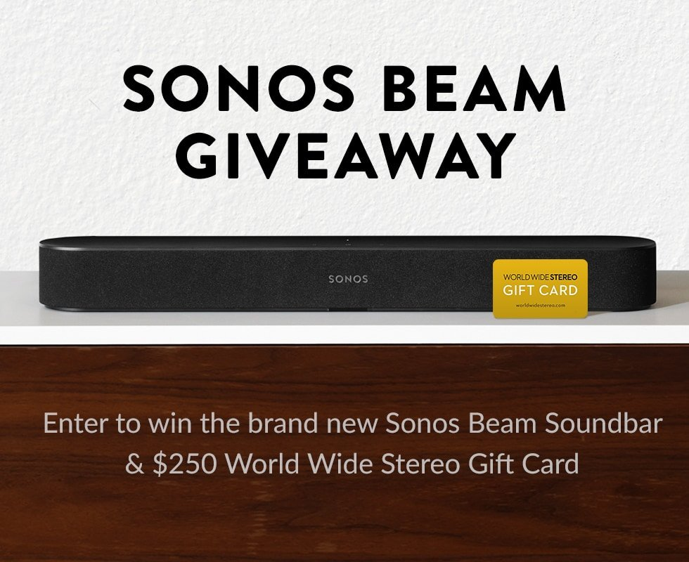 Win a Sonos Beam and a $250 gift card!