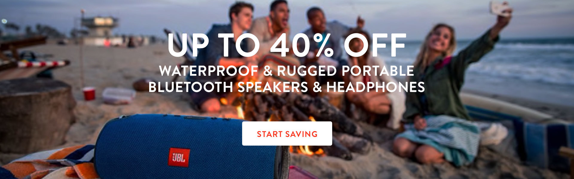 Save on Waterproof Bluetooth Speakers & Headphones