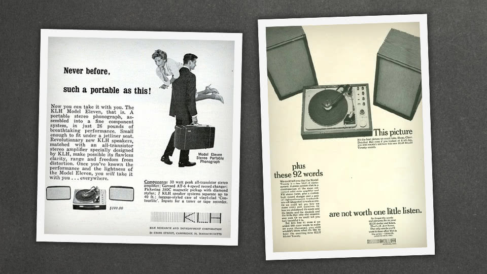 Old ads for the KLH Model 11