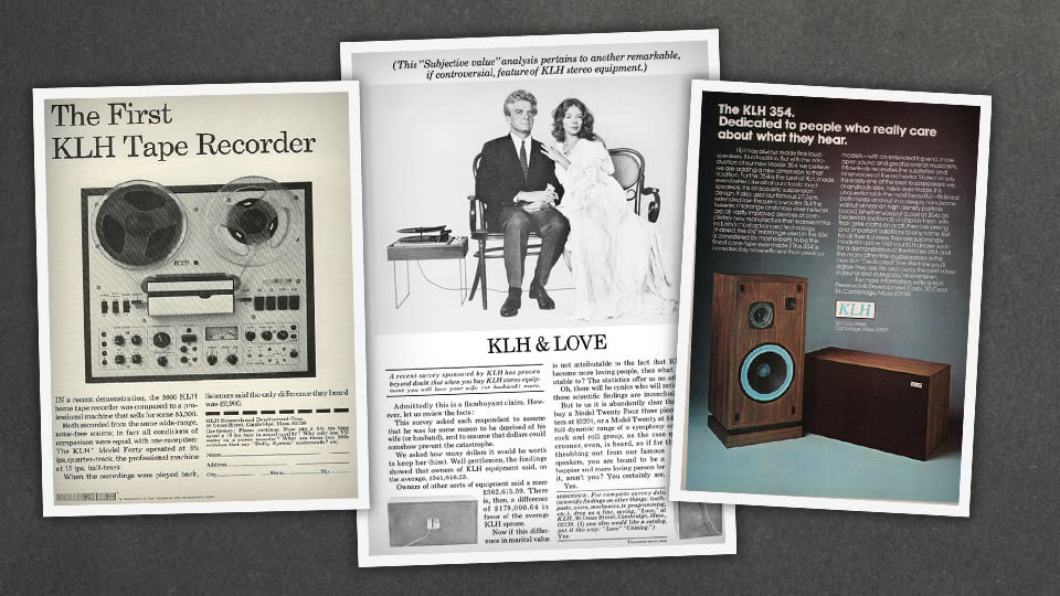 Old ads for the KLH Tape Recorder and KLH 354