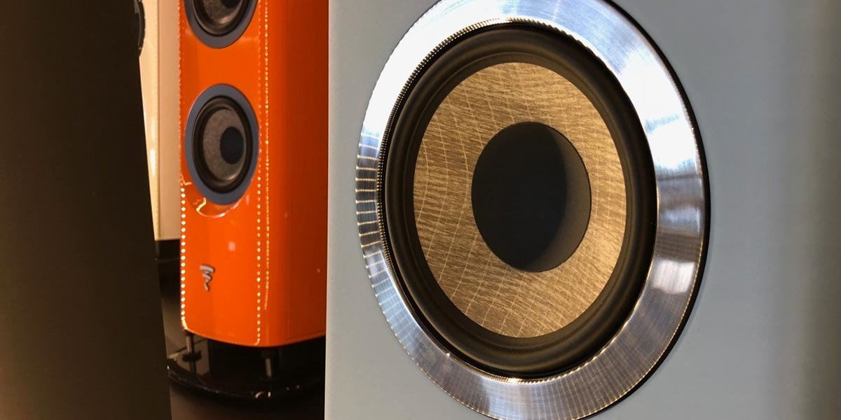 Closer image of finished speakers