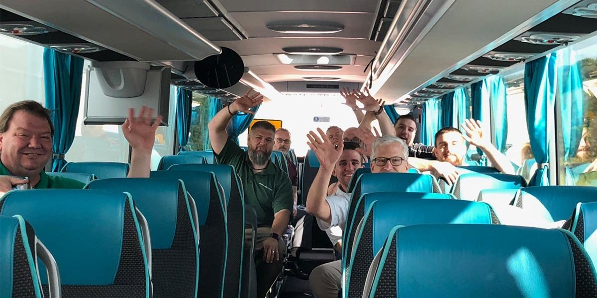 Group Photo in Bus