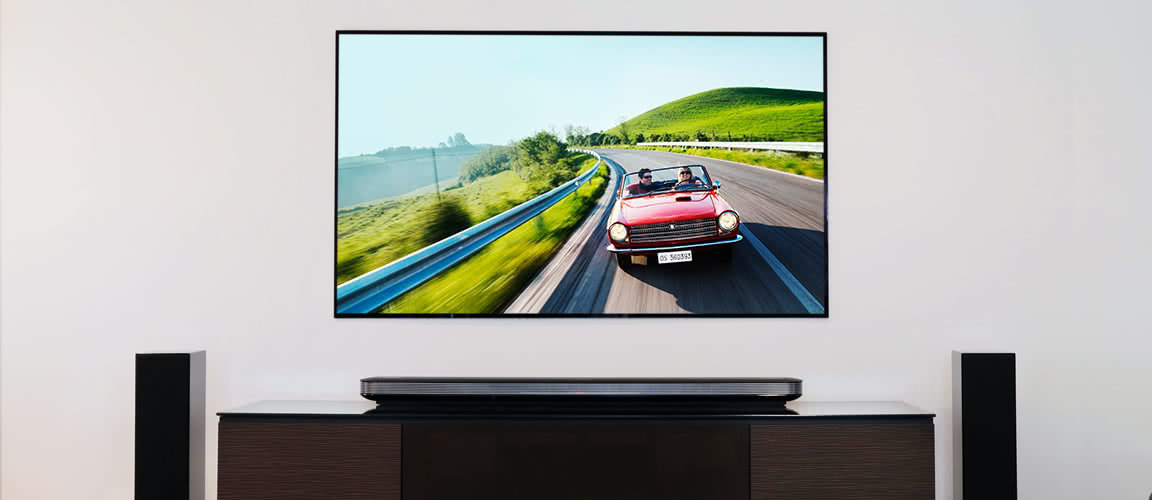 LG OLED77W7P Wallpaper TV and Sound Bar