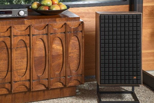 Reissued JBL L100 classic speaker in black