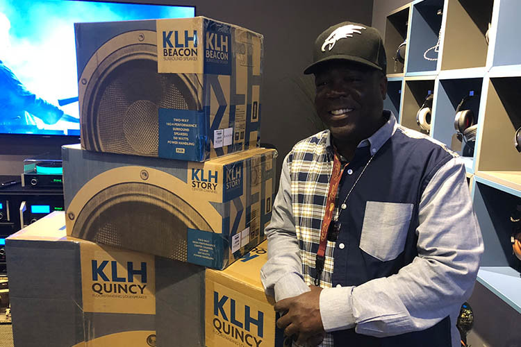 The lucky winner of the KLH Quincy 5.1 Home Theater System