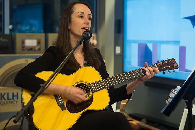 Music Therapist Molly Hicks performs