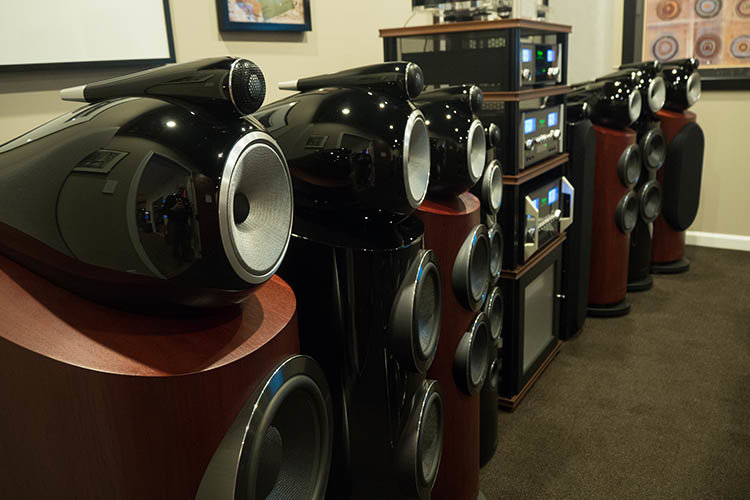 The beautiful lineup of Bowers & Wilkins speakers