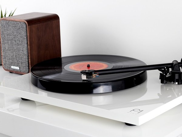 P1 Turntable on a shelf