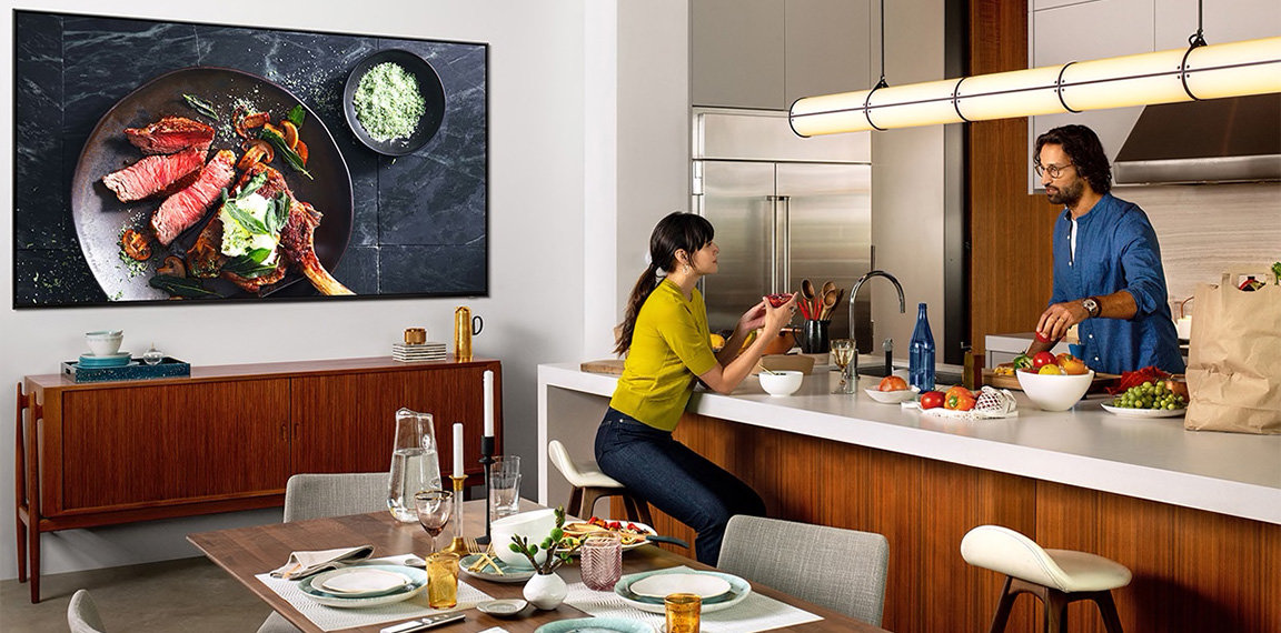 TV in the kitchen
