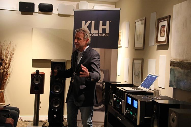 KLH gives a demo of their speakers
