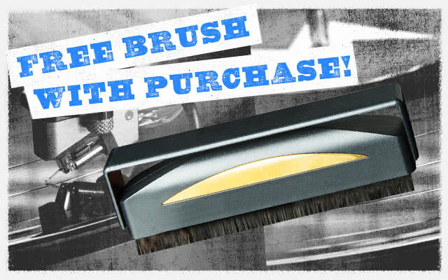 Free Record Brush with Purchase