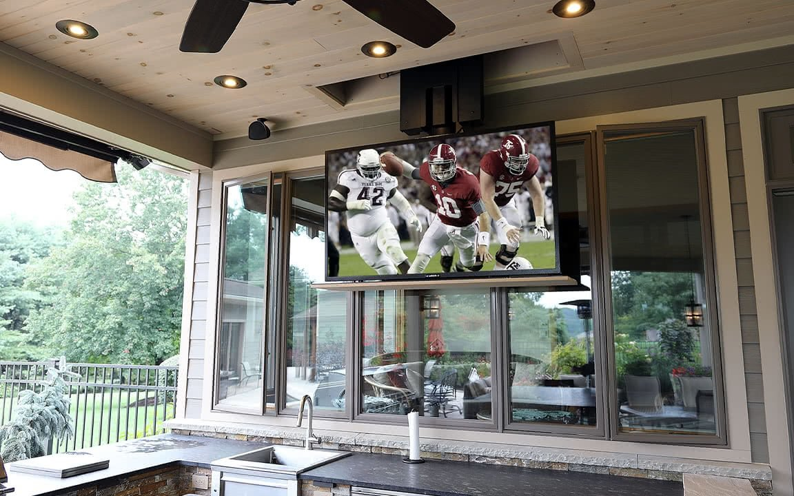 Hidden Outdoor TV
