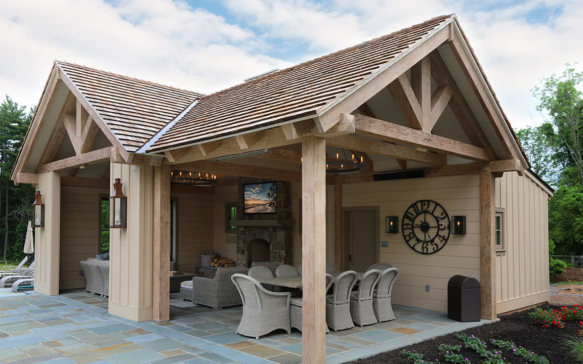 Our pool house project