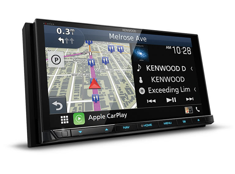 "Kenwood DNX997XR 6.8"" CD/DVD Garmin Navigation Touchscreen Receiver w/ Apple CarPlay and Android Auto"