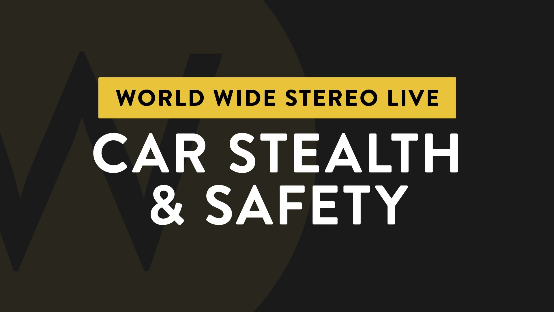 Ep. 16 Car Stealth & Safety