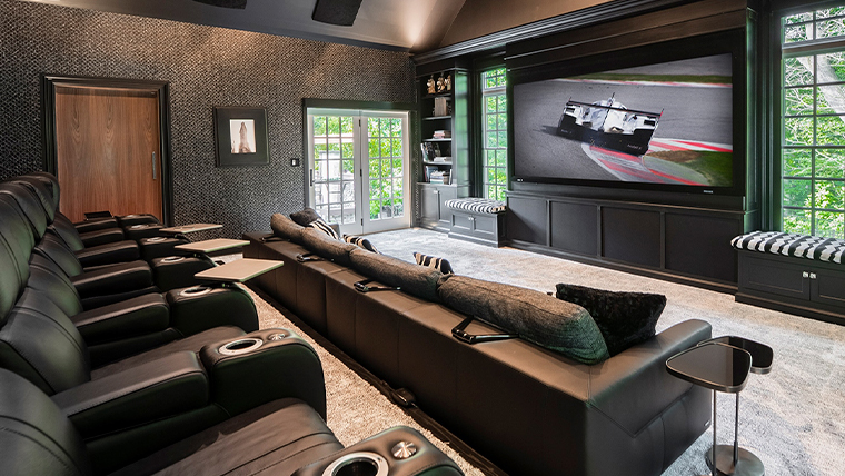 Designer Home Theater Transformation