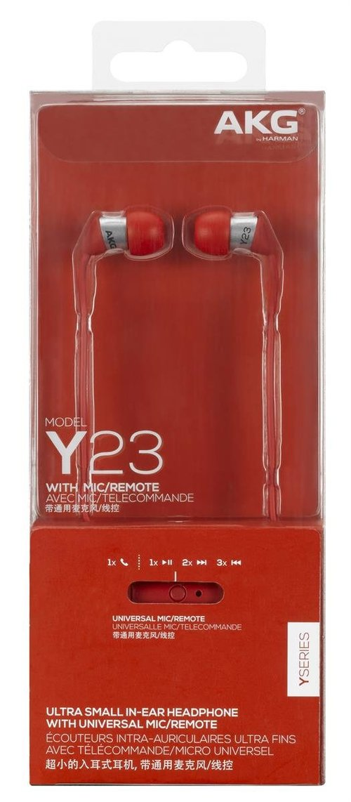 View Larger Image of Y 23U In-Ear Headphones With Universal One-Button Mic