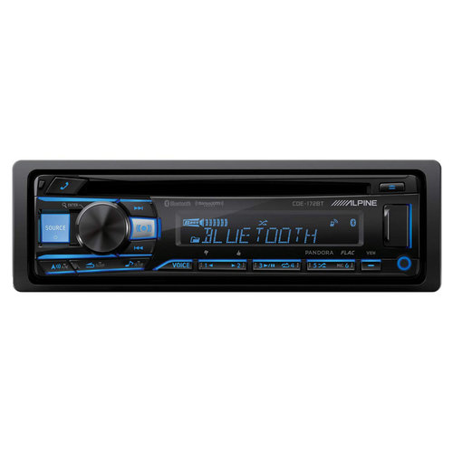 Alpine CDE-172BT CD Receiver w Bluetooth and USB and AUX Inputs