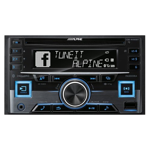 View Larger Image of CDE-W265BT Double Din CD Receiver with Bluetooth