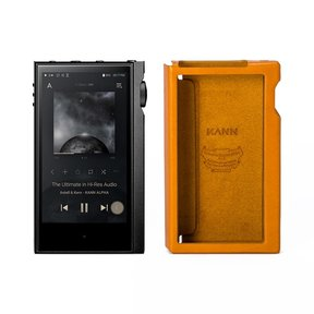 KANNA ALPHA Dual DAC Music Player with Leather Protective Case (Golden Brown)
