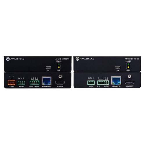View Larger Image of HT-UDH-EX-70C-KIT 4K/UHD HDMI Over HDBaseT Transmitter/Receiver