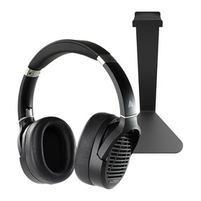 LCD-1 Over-Ear Planar Magnetic Headphones with Kanto H1 Headphone Stand (Black)