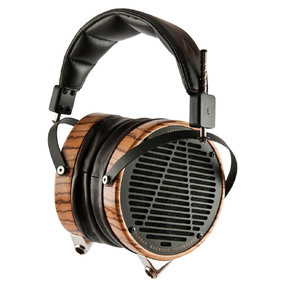 LCD-3 High-Performance Planar Magnetic Over-Ear Headphones (Factory Certified Refurbished, Zebra Wood with Lambskin Leather)