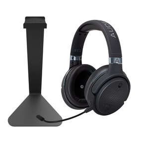 Mobius Audiophile Wireless Over-Ear Gaming Headphones (Carbon) with Kanto H1 Stand (Black)