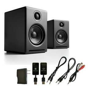 A2+ Premium Powered Desktop Speakers with W3 Wireless Kit