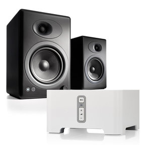 A5+ Classic Powered Bookshelf Speakers with Sonos CONNECT Wireless Hi-Fi Player