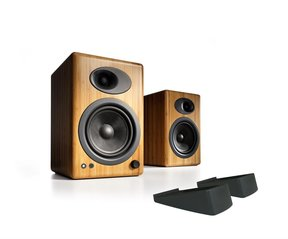 A5+ Premium Powered Bookshelf Speakers With Stands - Pair