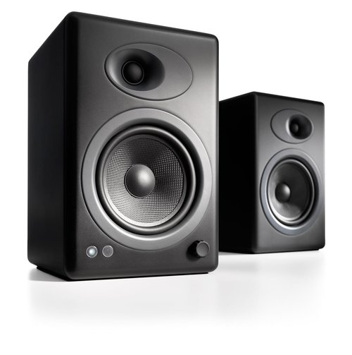 View Larger Image of A5+ Premium Powered Bookshelf Speakers With Stands - Pair