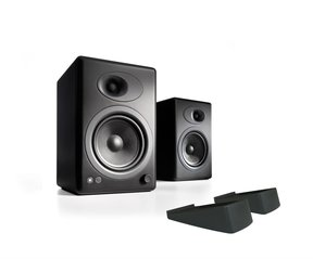 A5+ Classic Powered Bookshelf Speakers With Stands - Pair