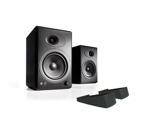View Larger Image of A5+ Classic Powered Bookshelf Speakers With Stands - Pair